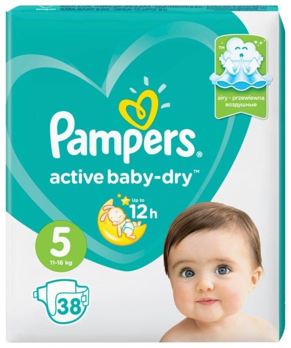 Pampers подгузники Active Baby-Dry 5 (11-16 кг) 38 шт.