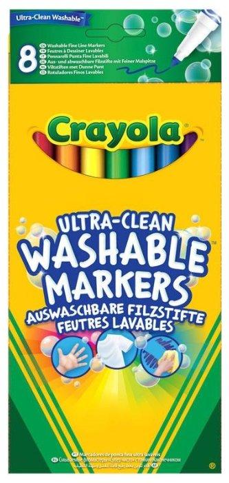 Crayola Фломастеры смываемые 8 шт. (58-8330)