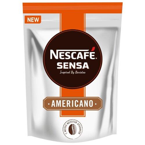 Кофе растворимый Nescafe Sensa Americano с молотым кофе, пакет, 70 г nescafe classic crema кофе растворимый 70 г пакет