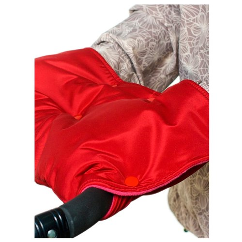 Купить Чудо-Чадо Муфта для рук флис/кнопки вишневый, Аксессуары для колясок и автокресел
