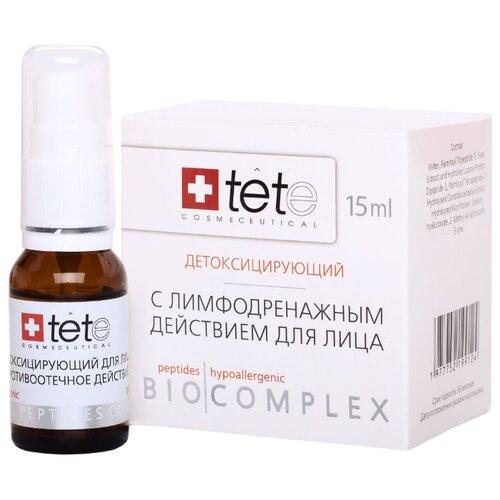 Купить TETe Cosmeceutical Biocomplex Detoxifying Therapy Биокомплекс детоксицирующий для лица с лимфодренажным действием, 15 мл