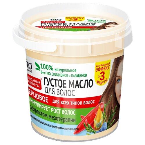 Народные рецепты Густое масло для волос перцовое, 155 мл густое масло для волос