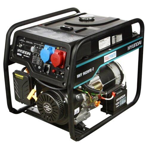 Бензиновый генератор Hyundai HHY9020FE-T (6000 Вт) дизельный генератор hyundai dhy 6000 se 3 5000 вт