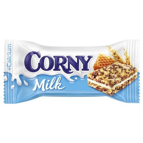 Злаковый батончик Corny Milk с молоком и медом, 30 г батончик злаковый fortuche вишня с семенами подсолнечника льна тыквы 25 г