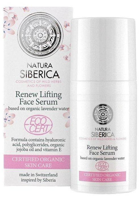 Natura Siberica Natural&Organic Renew Lifting Face Serum Восстанавливающая лифтинг-сыворотка для лица