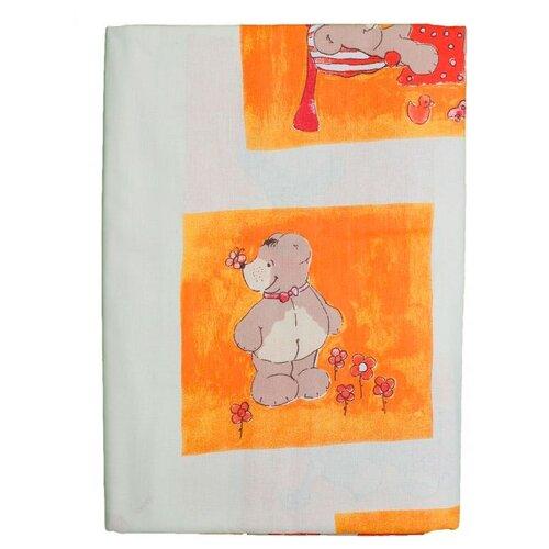 Baby Walz комплект постельного белья Медвежата (2 предмета) оранжевый недорого
