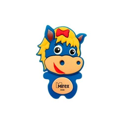 Фото - Флешка Mirex HORSE 8GB синий флешка mirex dragon 8gb красный