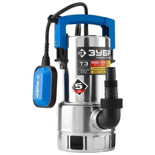 Дренажный насос ЗУБР НПГ-Т3-550-С (550 Вт) дренажный насос зубр нпг т3 900 900 вт