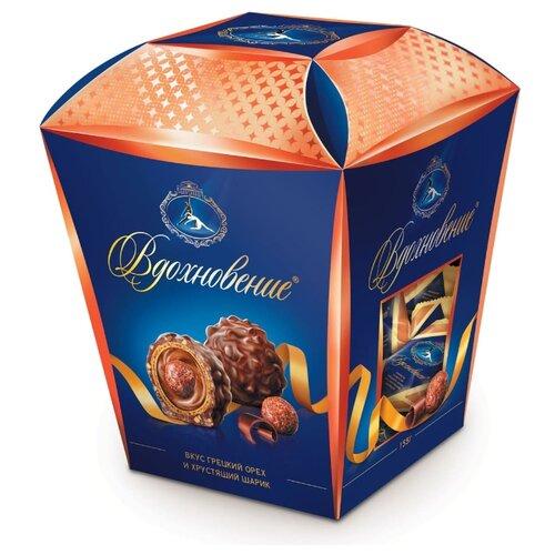 Набор конфет Вдохновение Со вкусом грецкого ореха и хрустящим шариком 155 г mieszko трюфель французский со вкусом ореха набор шоколадных конфет 175 г