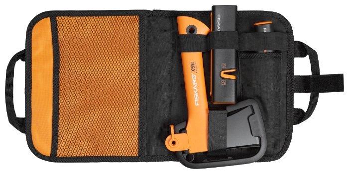 Туристический топор FISKARS Х5 + нож общего назначения + точилка в сумке