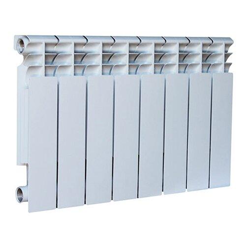 Радиатор секционный алюминий Oasis Al 350/80 x8 теплоотдача 1240 Вт, подключение боковое правое RAL 9016 биметаллический радиатор rifar рифар b 500 нп 10 сек лев кол во секций 10 мощность вт 2040 подключение левое