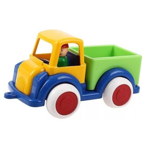 Купить Грузовик Форма Детский сад (С-63-Ф) 28 см желтый/зеленый/синий, Машинки и техника