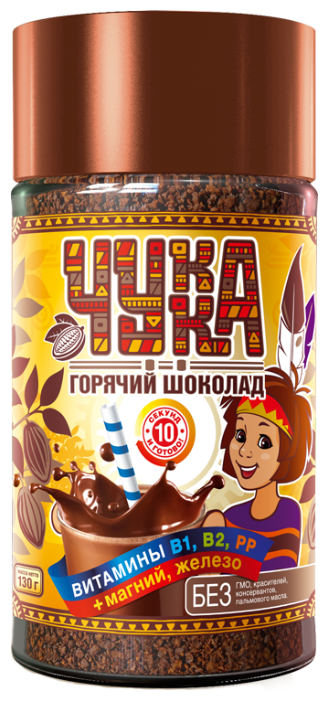 Чукка Горячий шоколад растворимый с витаминами, банка