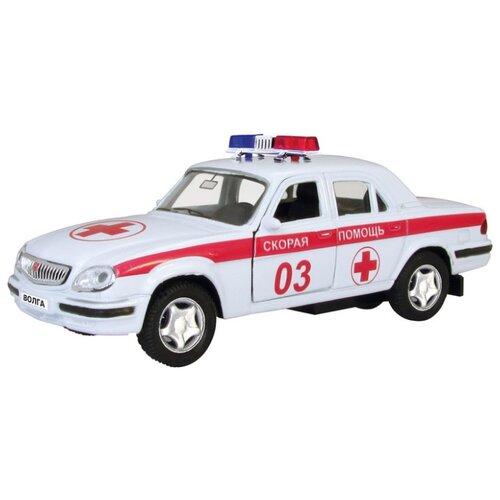 Купить Легковой автомобиль Autotime (Autogrand) ГАЗ-31105 Волга скорая помощь (4066) 1:43 11 см белый/красный, Машинки и техника