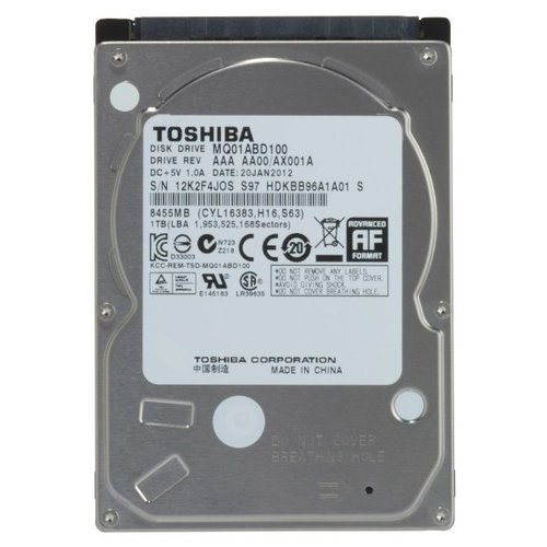 Жесткий диск Toshiba 1 TB MQ01ABD100 жесткий диск toshiba 1 tb hdwl110uzsva