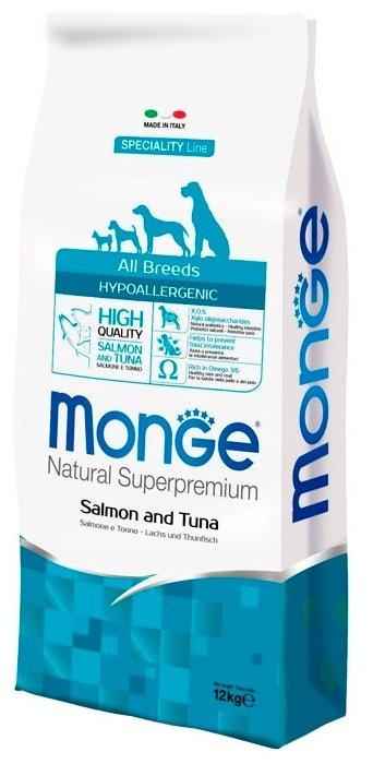 Корм для собак Monge Speciality Line Hypoallergenic – Лосось и тунец