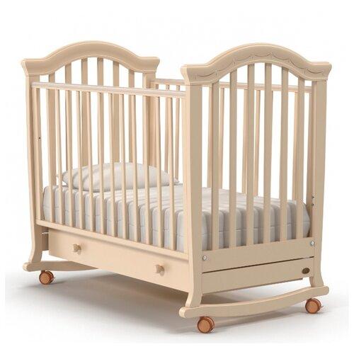 Кроватка Nuovita Perla (колесо) (качалка), на полозьях слоновая кость кроватка гандылян дашенька колесо качалка слоновая кость