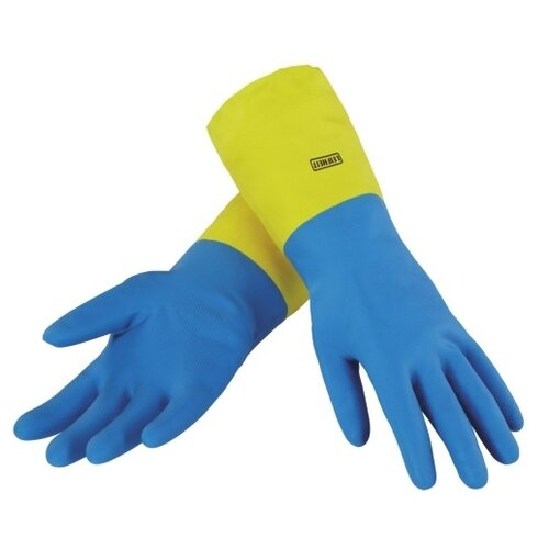 Перчатки Leifheit хозяйственные Ultra Strong, 1 пара, размер M, цвет голубой/желтый
