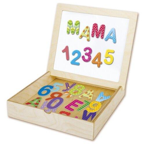 Обучающий набор Десятое королевство Касса букв и цифр с магнитной доской 02076 касса букв и цифр с магнитной доской десятое королевство 02076