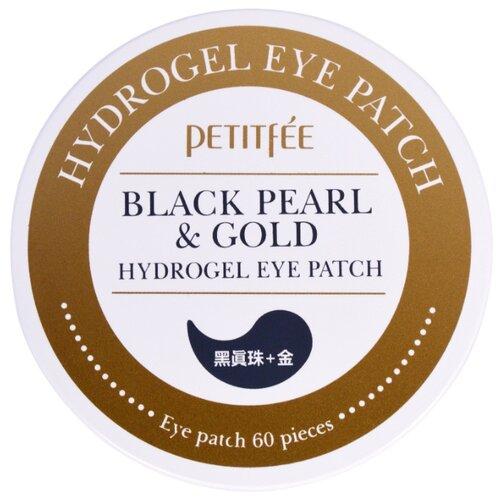 Petitfee Гидрогелевые патчи с экстрактом чёрного жемчуга и био-частицами золота Black Pearl & Gold Hydrogel Eye Patch (60 шт.) гидрогелевые патчи petitfee