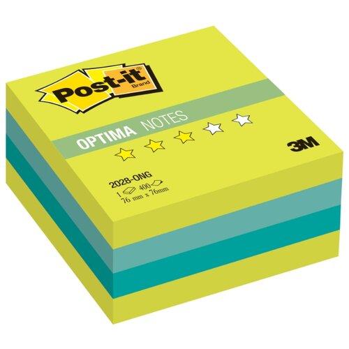 Купить Post-it Блок-кубик Optima, 76х76 мм, 400 штук (2028) весна, Бумага для заметок