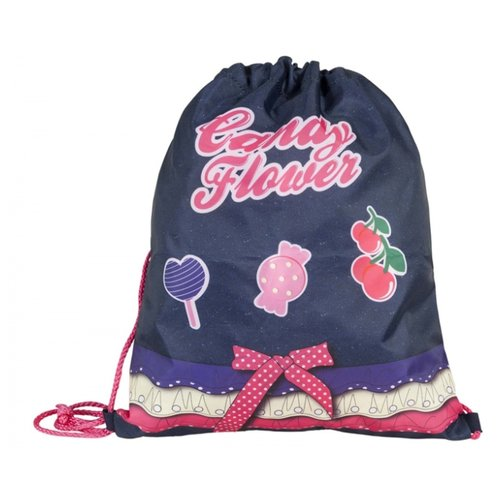 Купить Target Сумка для детской сменной обуви Сладкие цветы (17918) синий/розовый, Мешки для обуви и формы