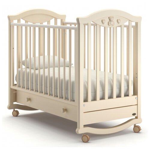 Кроватка Nuovita Lusso (колесо) (качалка), на полозьях слоновая кость кроватка гандылян дашенька колесо качалка слоновая кость