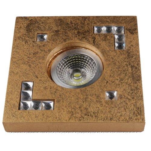 Встраиваемый светильник De Fran FT 436 GD, золотая фольга / стразыВстраиваемые светильники<br>