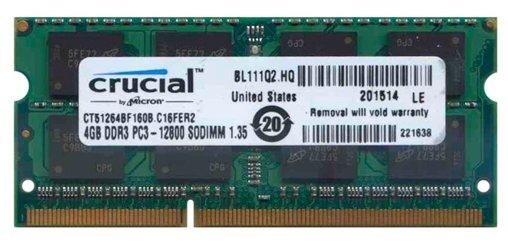 Сколько стоит Оперативная память 4 ГБ 1 шт. Crucial CT51264BF160B? Выгодные цены на Яндекс.Маркете