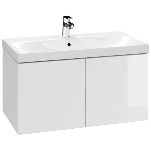 Тумба для ванной комнаты, под раковину Cersanit Colour с двумя дверками, ШхГхВ: 79.4х44.7х41.6 см, цвет: белый 80 тумба под раковину cersanit melar шхгхв 49 2х39х68 см цвет белый