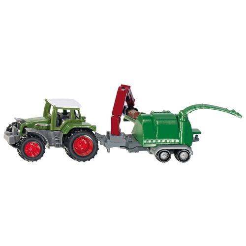 Купить Трактор Siku с щеподробилкой (1675) 7 см зеленый, Машинки и техника