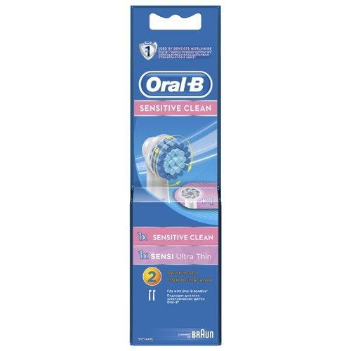 Набор насадок Oral-B Sensitive Clean + Sensi UltraThin, белый, 2 шт