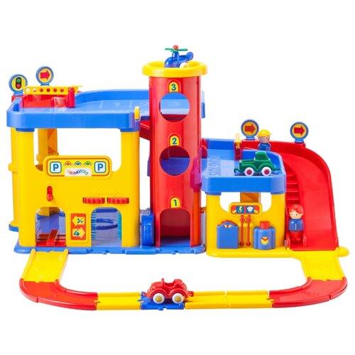 Viking Toys Гараж большой с лестницей 5502 красный/желтый/голубой самолет viking toys 02141 10 см желтый