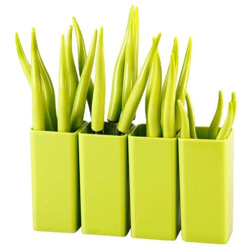MOULINvilla Набор столовых приборов Chili, 24 шт. зеленыйСтоловые приборы<br>