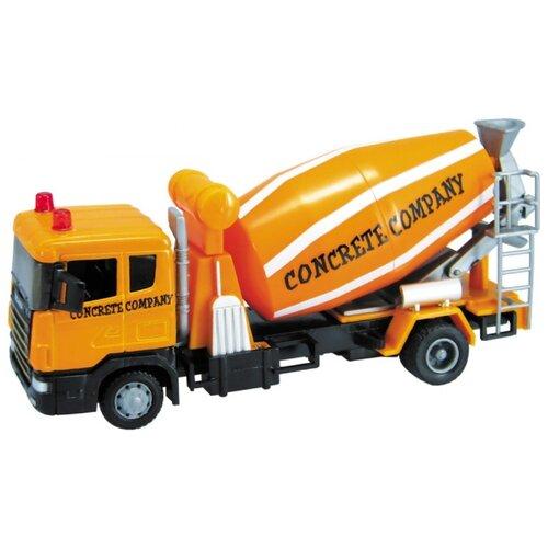 Купить Бетономешалка Autogrand Scania Mixer бетономешалка (10842-00/9824) 1:48 оранжевый / черный, Машинки и техника