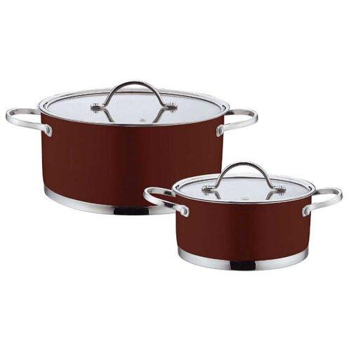 Набор кастрюль Bohmann 0414BH 4 пр. коричневыйНаборы посуды для готовки<br>