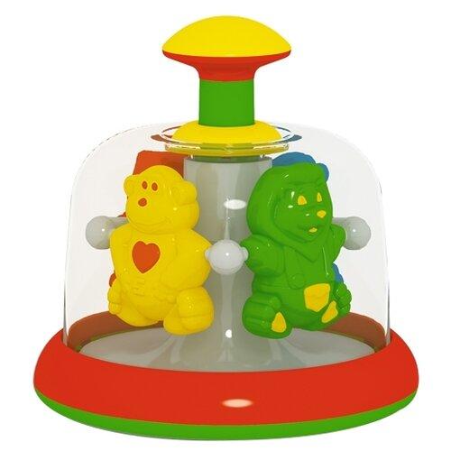 Юла-карусель Stellar Африка, упаковка пакет (01387) красный/зеленый/желтый игрушка chuc юла
