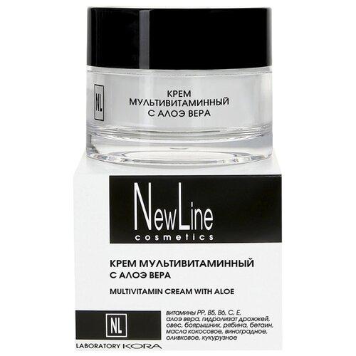 Купить NewLine Крем мультивитаминный с алоэ вера для лица, 50 мл
