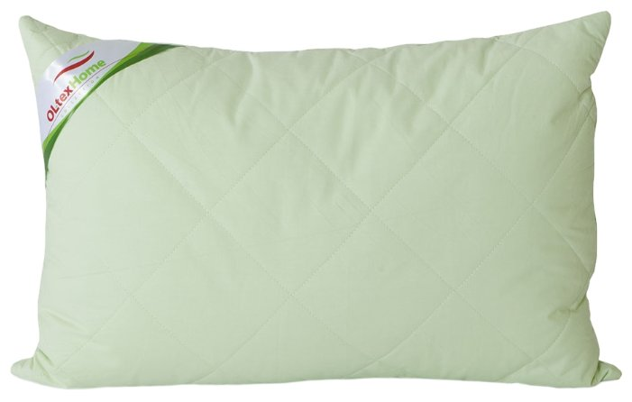 Подушка OLTEX бамбук, стеганый чехол (ОБТ-57-3) 50 х 70 см белый