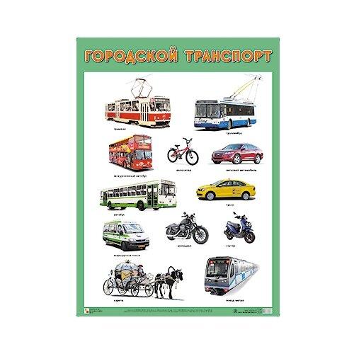 Купить Плакат Мозаика-Синтез Городской транспорт, Обучающие плакаты