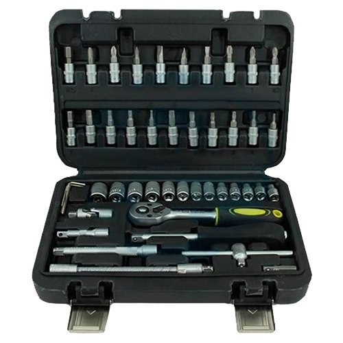 Фото - Набор автомобильных инструментов Эврика ER-TK2046, 46 предм., черный набор инструментов эврика er 31100 10 предм