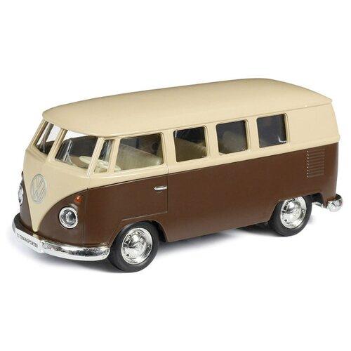 Купить Микроавтобус RMZ City Volkswagen T1 Transporter (554025M) 1:32 бежевый с коричневым, Машинки и техника