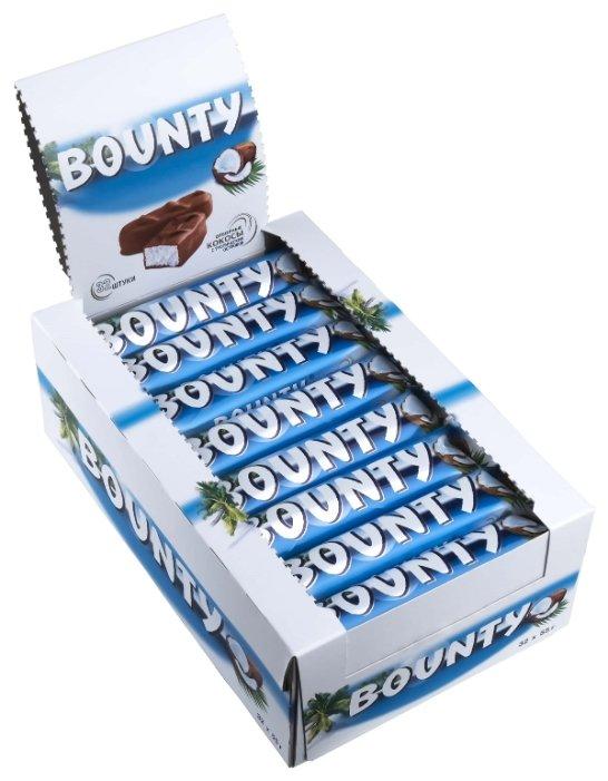Батончик Bounty с нежной мякотью кокоса, 55 г, коробка