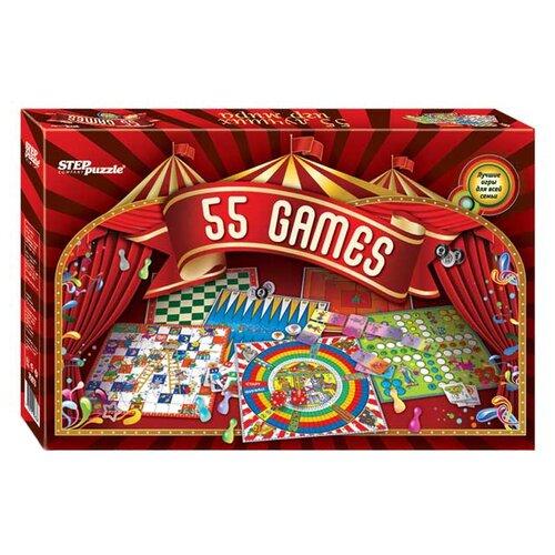 цена на Набор настольных игр Step puzzle 55 лучших игр мира