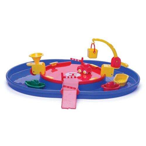 Купить Viking Toys Гараж с гаванью 5010 красный/желтый/синий, Детские парковки и гаражи