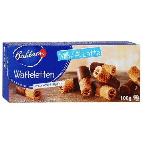 Вафельные трубочки Bahlsen Waffeletten Milk в молочном шоколаде 100 г бальзен печенье choco leibniz сливочное в молочном шоколаде bahlsen