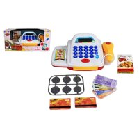Детские игрушки для игр в магазин Shantou Gepai Касса «Торговый центр» (со сканером и набором денег, свет, звук)
