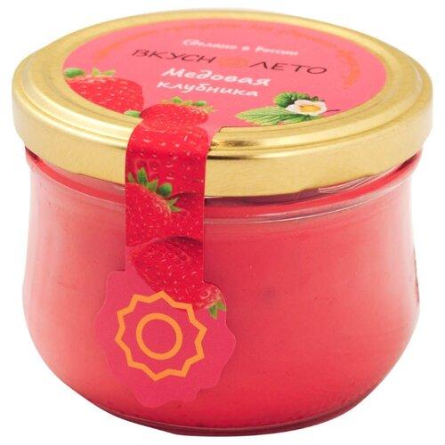Крем-мед ВКУСНОЛЕТО Медовая клубника, в банке твист-офф 220 гМед и продукты пчеловодства<br>