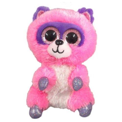 Купить Мягкая игрушка Yangzhou Kingstone Toys Енотик розовый 15 см, Мягкие игрушки