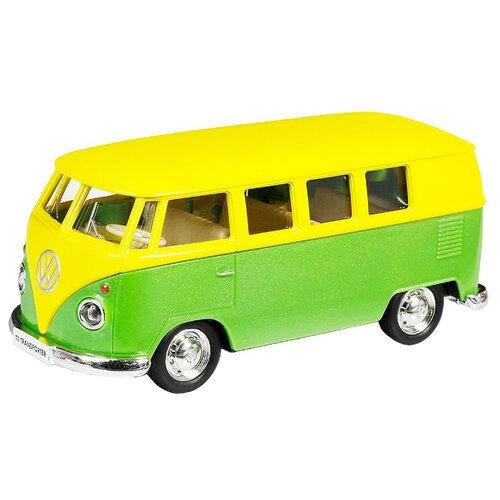 Купить Микроавтобус RMZ City Volkswagen T1 Transporter (554025M) 1:32 желтый/зеленый, Машинки и техника
